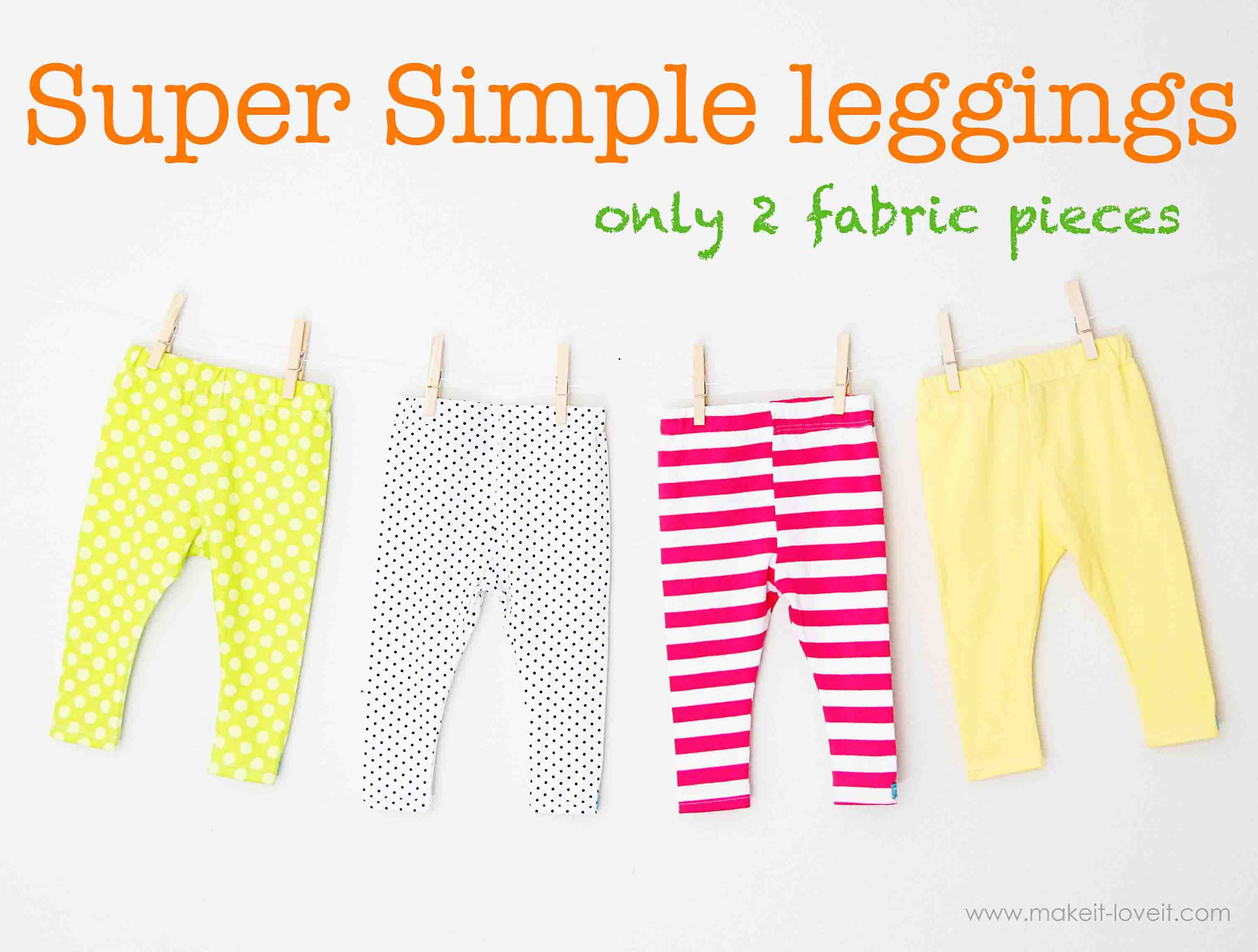 DIY leggings for baby girl or boy | Mom Projects