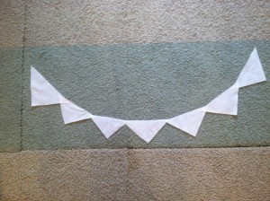 Bunting from piping leftovers