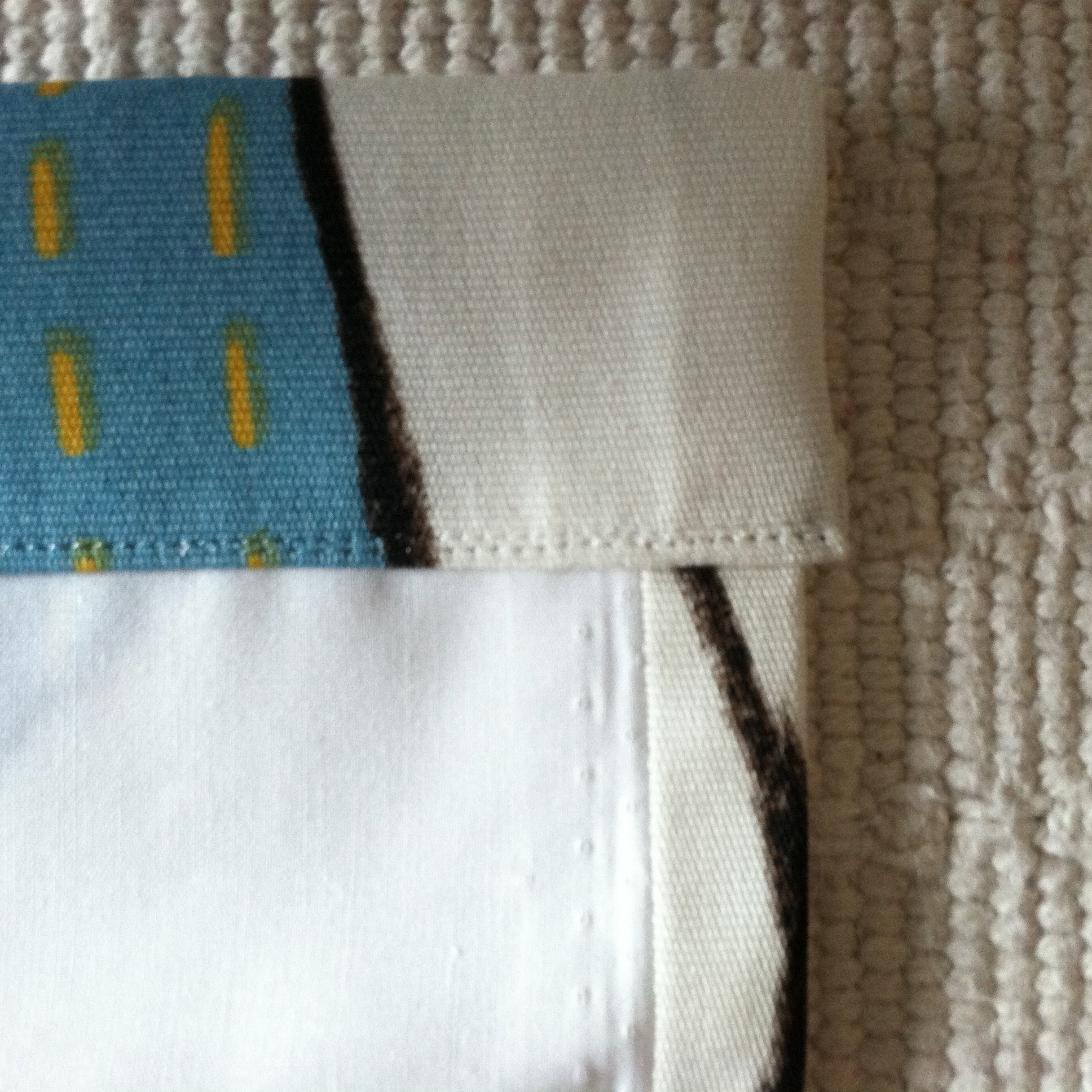 "Stitch the 2"" hem near the top edge"