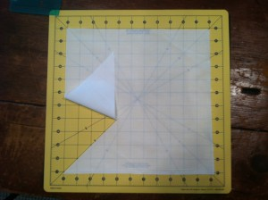 Cut Squares into triangles