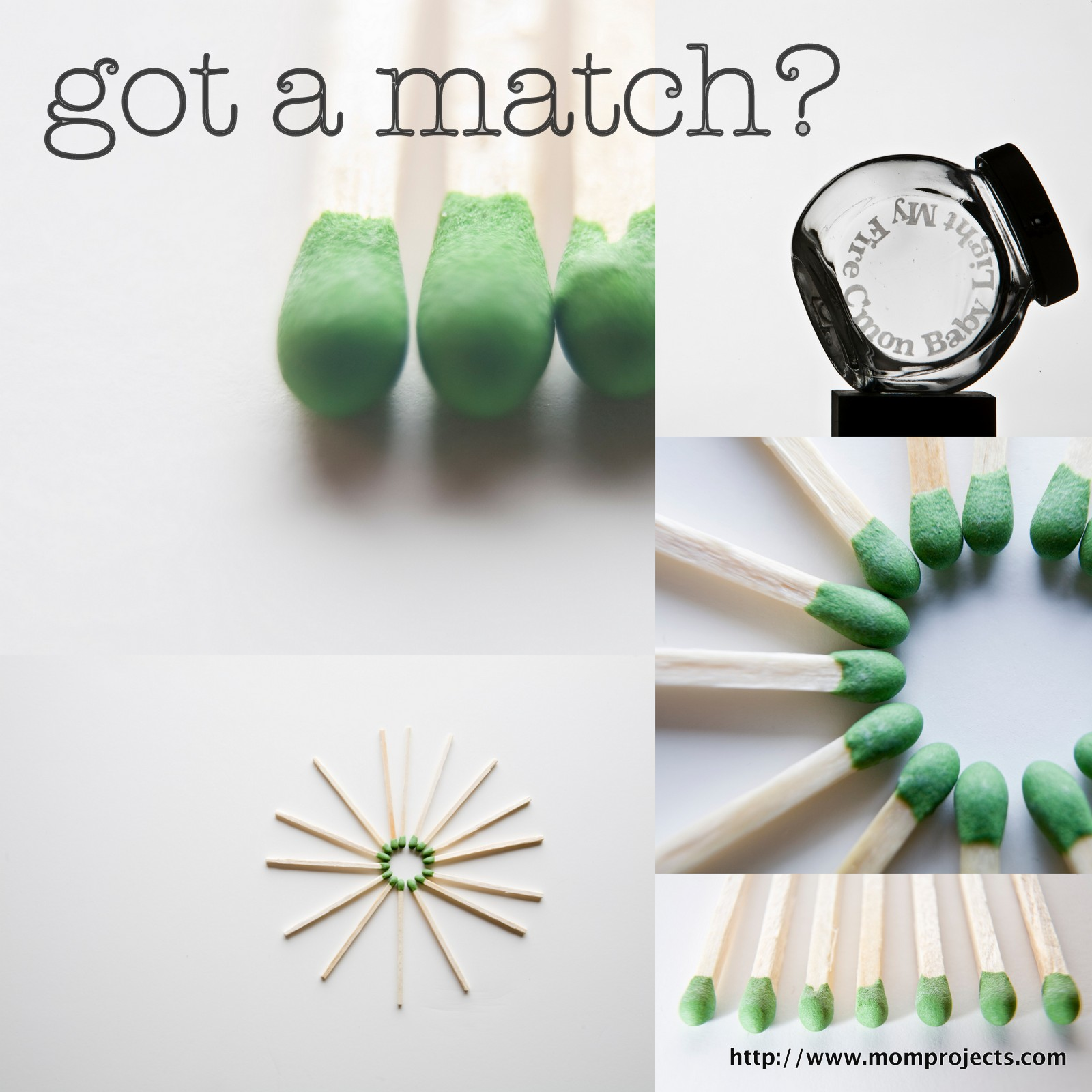 Match Jar Collage